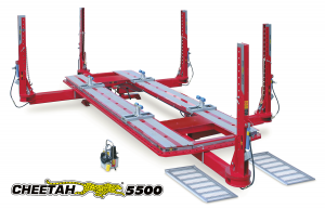Cheetah 5500 Frame Rack by Star-A-Liner. This model is designed for unibody cars up to full size four door heavy duty dually trucks.