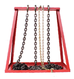 moveable frame chain stand